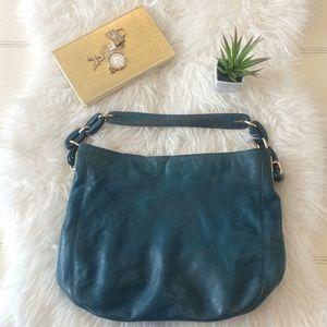 Michael Kors green hobo bag